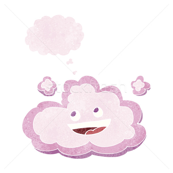 cartoon decorative cloud with thought bubble Stock photo © lineartestpilot