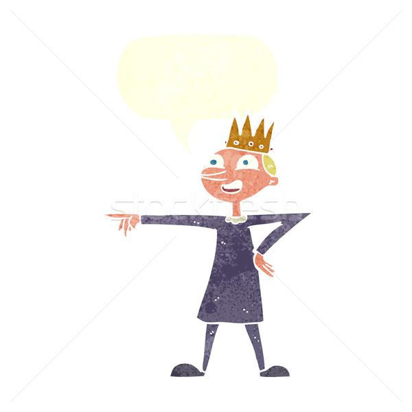 Cartoon punta prince fumetto mano felice Foto d'archivio © lineartestpilot