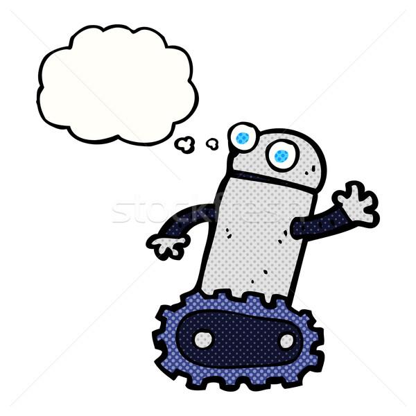 Cartoon робота мысли пузырь стороны дизайна искусства Сток-фото © lineartestpilot