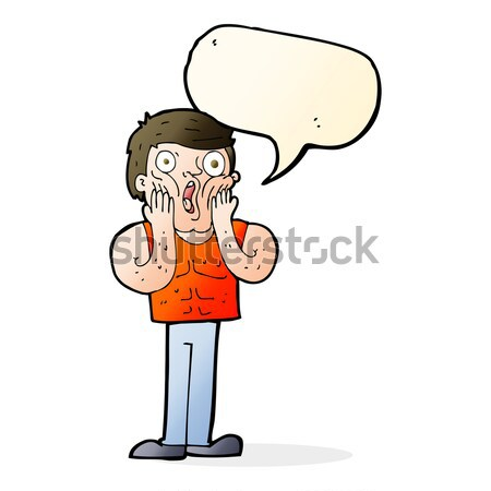 cartoon complaining man with thought bubble Stock photo © lineartestpilot