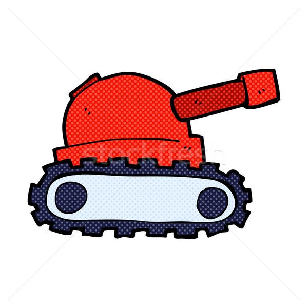 comic cartoon tank Stock photo © lineartestpilot