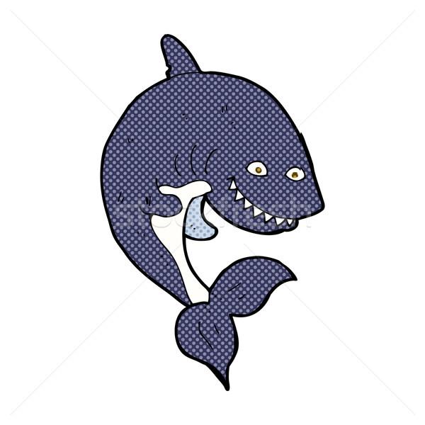 コミック 漫画 サメ レトロな スタイル ストックフォト © lineartestpilot