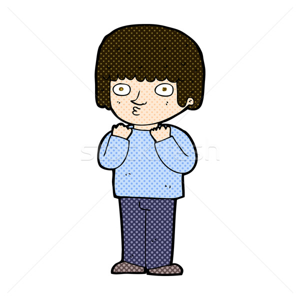 комического Cartoon удивленный человека ретро Сток-фото © lineartestpilot