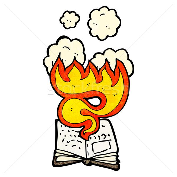 magic spell book cartoon Stock photo © lineartestpilot