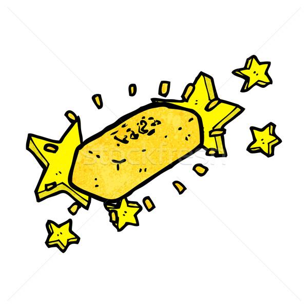 Aranyrúd rajz bár arany retro rajz Stock fotó © lineartestpilot