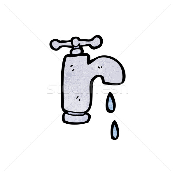 cartoon dripping faucet Stock photo © lineartestpilot