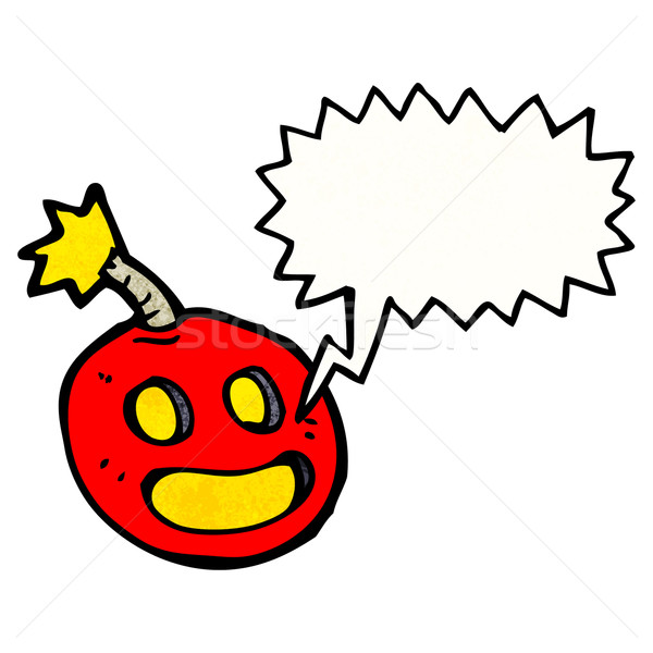 crazy bomb with speech bubble Stock photo © lineartestpilot