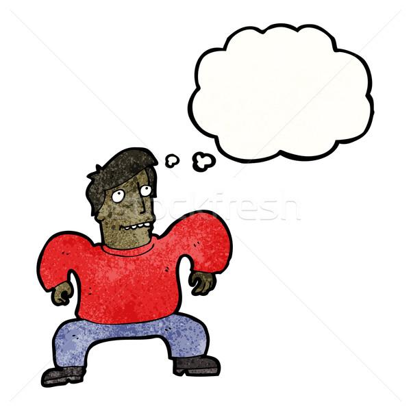 cartoon man squatting like crab Stock photo © lineartestpilot