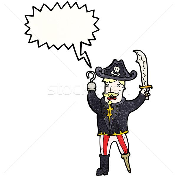 cartoon shouting pirate captain Stock photo © lineartestpilot