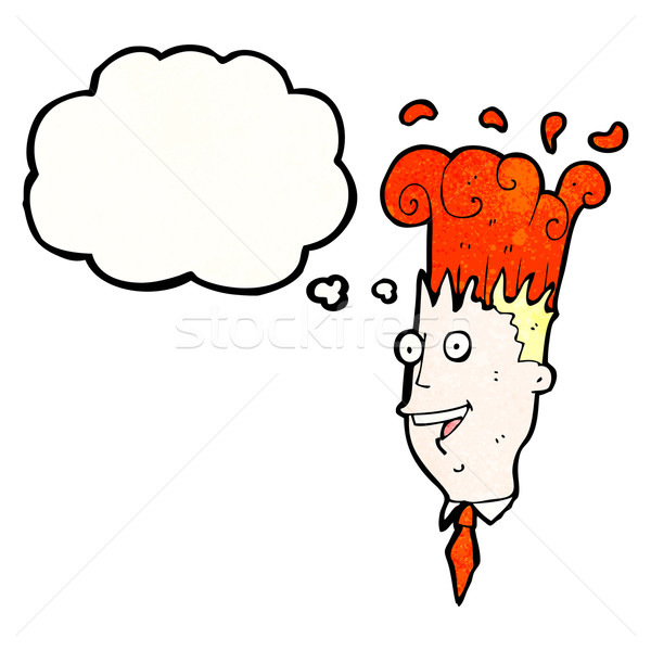 cartoon man with exploding brain Stock photo © lineartestpilot