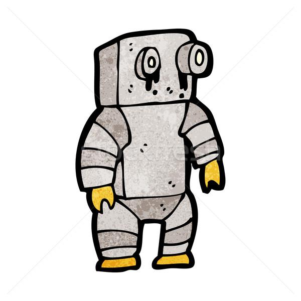 Stockfoto: Cartoon · triest · weinig · robot · kunst · retro