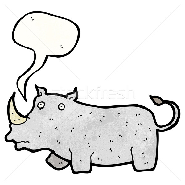 cartoon rhino Stock photo © lineartestpilot