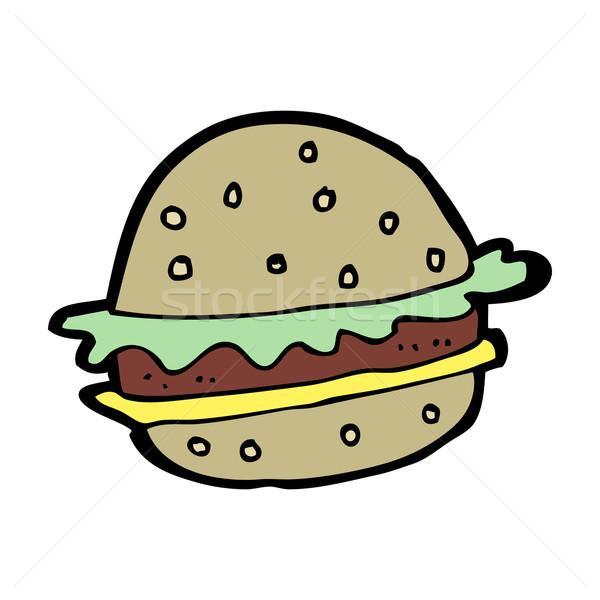 cartoon hamburger Stock photo © lineartestpilot