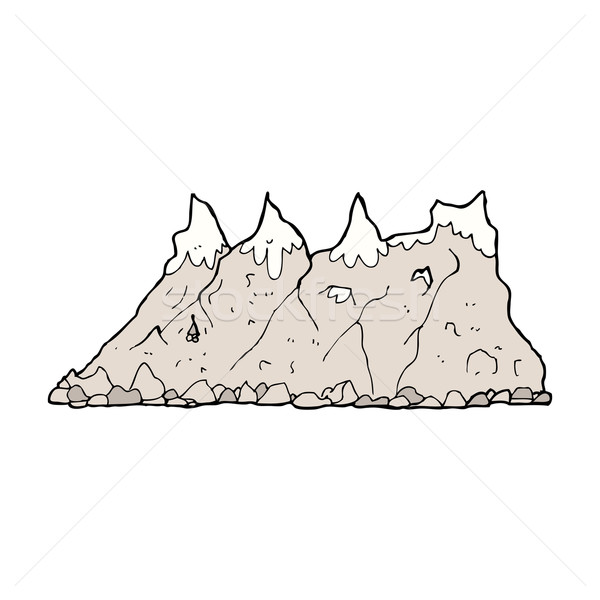 Cartoon montagne gamme design art rétro Photo stock © lineartestpilot