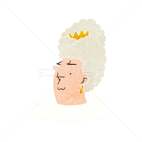 cartoon queen's head Stock photo © lineartestpilot