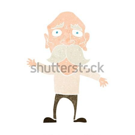 Rajz idős férfi történet kéz férfi terv Stock fotó © lineartestpilot