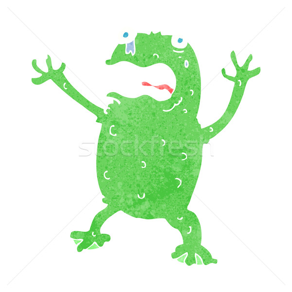 cartoon frightened frog Stock photo © lineartestpilot