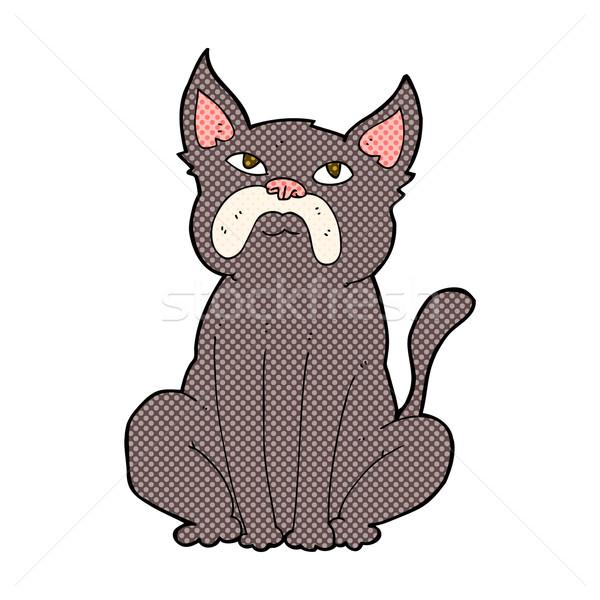comic cartoon grumpy little dog Stock photo © lineartestpilot