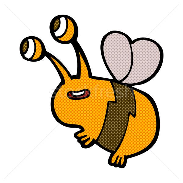 comic cartoon happy bee Stock photo © lineartestpilot