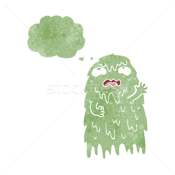 gross cartoon ghost with thought bubble Stock photo © lineartestpilot