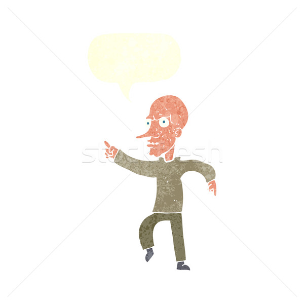 cartoon angry old man with speech bubble Stock photo © lineartestpilot