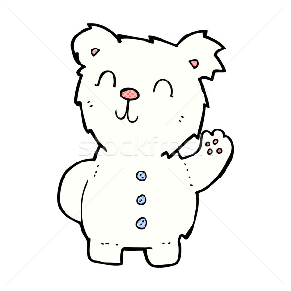 Képregény rajz jegesmedve retro képregény stílus Stock fotó © lineartestpilot