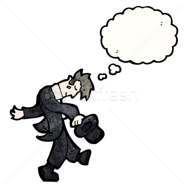 漫画 男 先頭 帽子 スーツ 話し ストックフォト © lineartestpilot