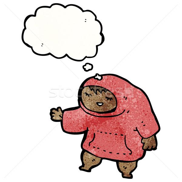 cartoon boy in hooded top Stock photo © lineartestpilot