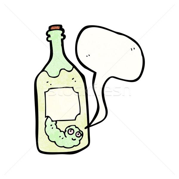 Rajz tequila üveg művészet retro rajz Stock fotó © lineartestpilot