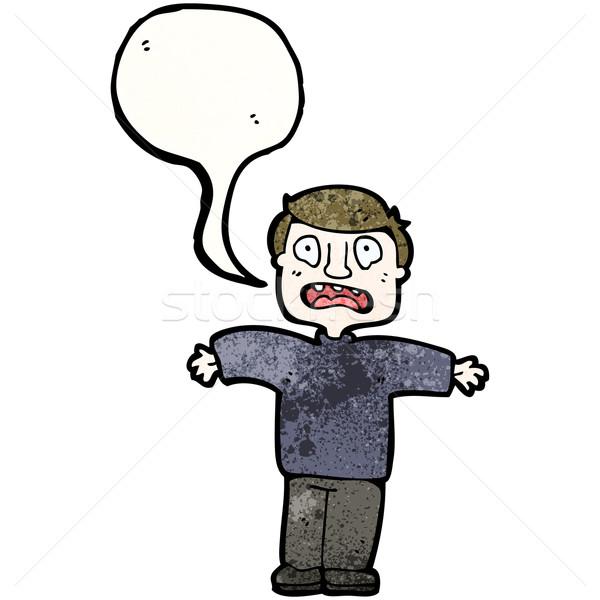 cartoon upset man Stock photo © lineartestpilot
