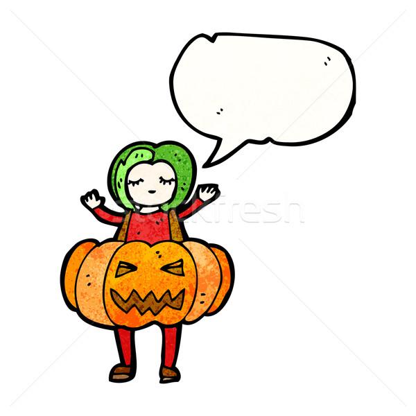 Halloween kostium cartoon retro tekstury odizolowany Zdjęcia stock © lineartestpilot