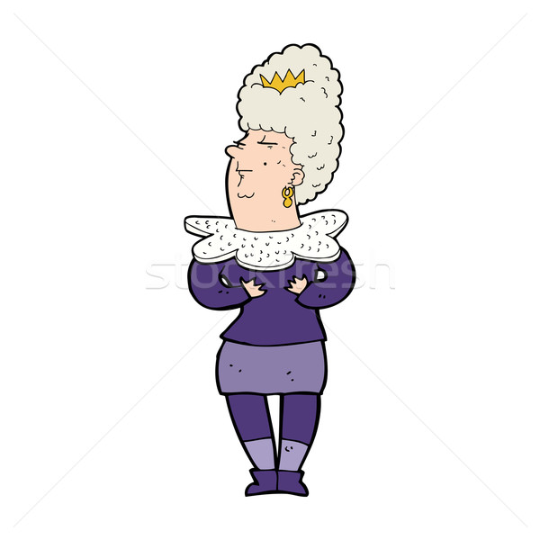 cartoon aristocratic woman Stock photo © lineartestpilot
