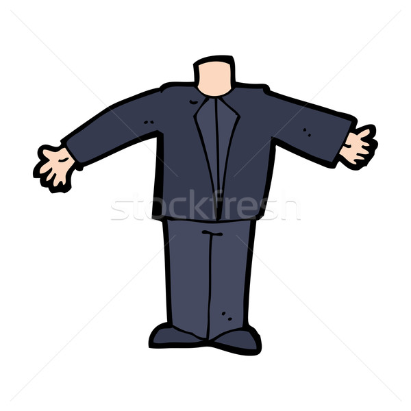 cartoon body in suit (mix and match cartoons or add own photos) Stock photo © lineartestpilot