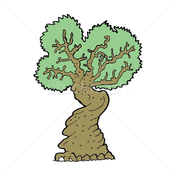 cartoon big old tree Stock photo © lineartestpilot