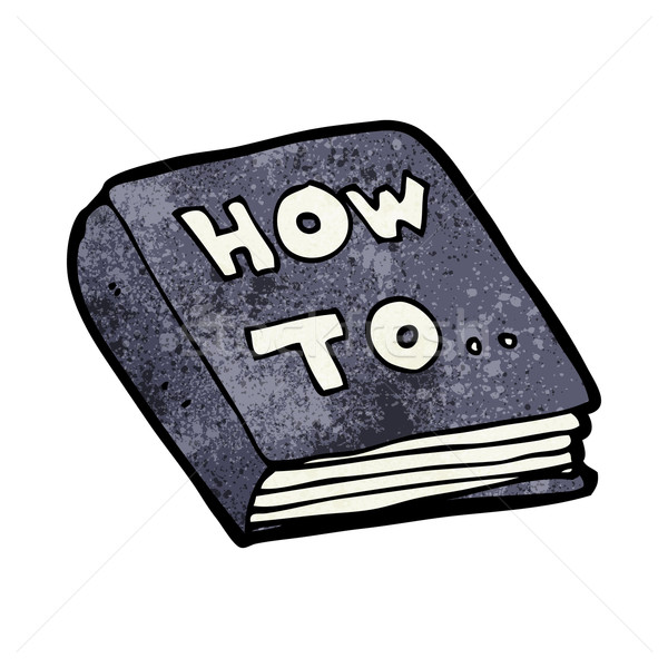 Stock photo: cartoon how to book