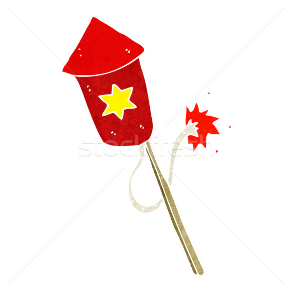 cartoon firework with burning fuse Stock photo © lineartestpilot