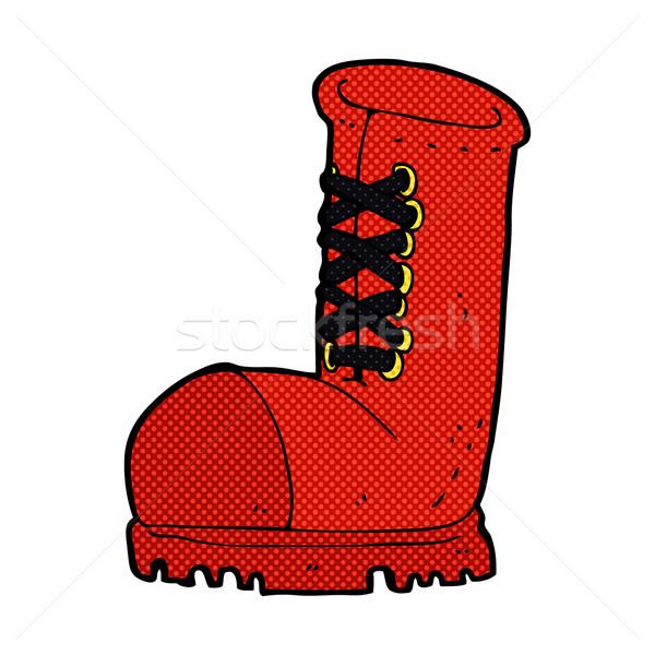 comic cartoon old work boot Stock photo © lineartestpilot