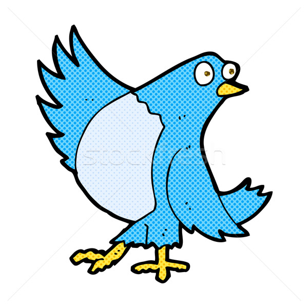 comic cartoon dancing bluebird Stock photo © lineartestpilot