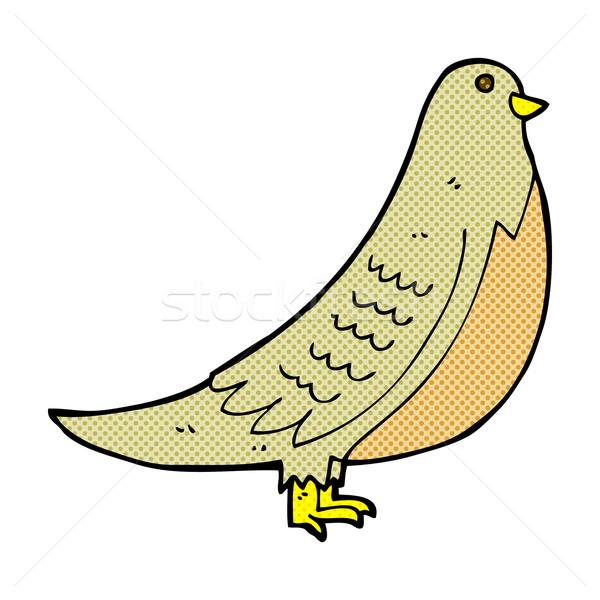 comic cartoon common bird Stock photo © lineartestpilot