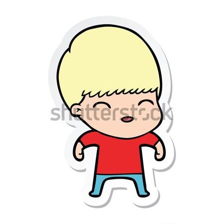 Cartoon sorpreso uomo bolla di pensiero mano design Foto d'archivio © lineartestpilot