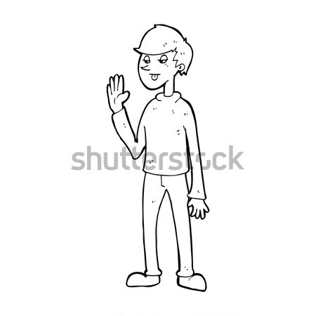 comic cartoon mean looking man Stock photo © lineartestpilot