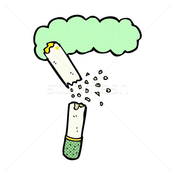 Cómico Cartoon roto marihuana cigarrillo retro Foto stock © lineartestpilot