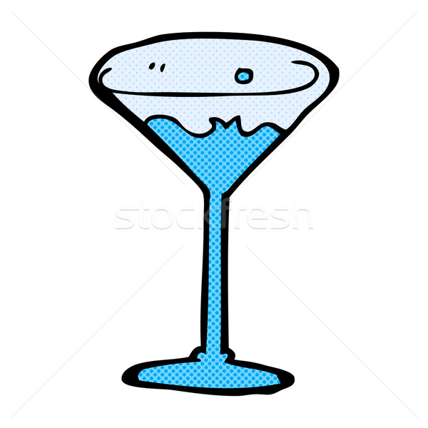 Stock photo: comic cartoon cocktail