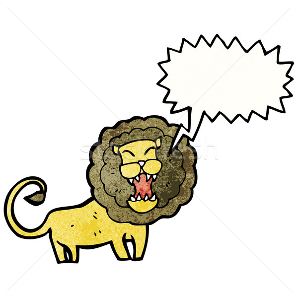 roaring lion Stock photo © lineartestpilot