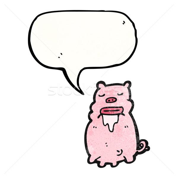 gross pig cartoon Stock photo © lineartestpilot
