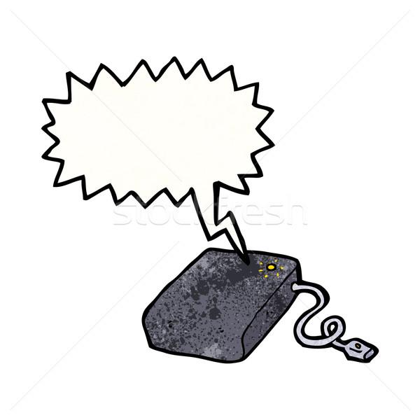 Cartoon disque dur ordinateur art rétro dessin Photo stock © lineartestpilot
