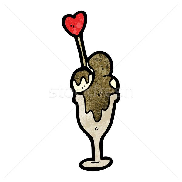 漫画 アイスクリーム サンデー 芸術 レトロな 図面 ストックフォト © lineartestpilot