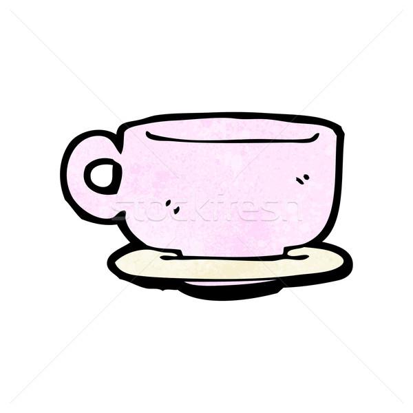 Karikatür çay fincanı Retro fincan çizim sevimli Stok fotoğraf © lineartestpilot