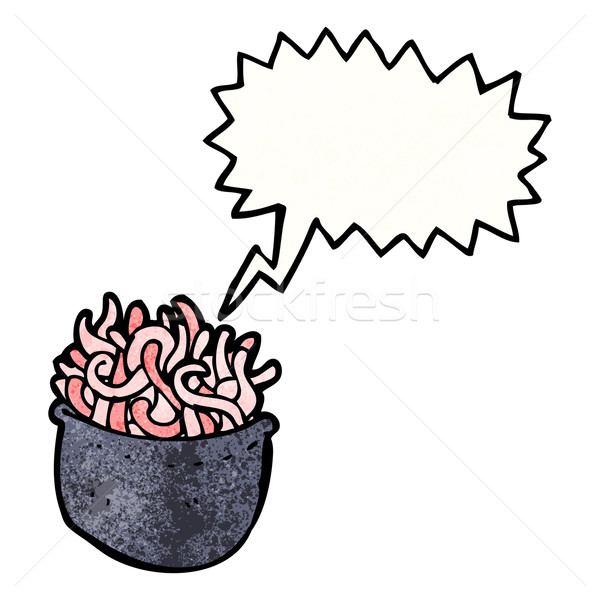 cartoon halloween bowl of worms Stock photo © lineartestpilot