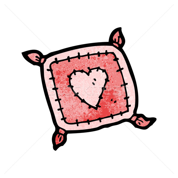 cartoon cushion with love heart Stock photo © lineartestpilot